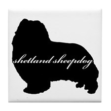Sheltie DESIGN Tile Coaster