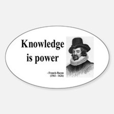 Francis Bacon Quote 1 Oval Decal