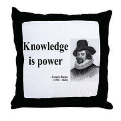 Francis Bacon Quote 1 Throw Pillow