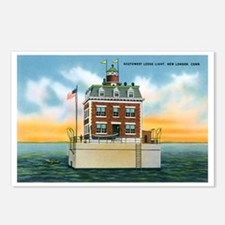 New London Connecticut CT Postcards (Package of 8)