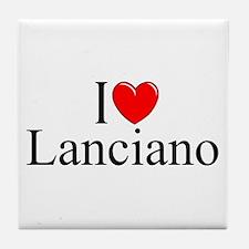 """I Love (Heart) Lanciano"" Tile Coaster"