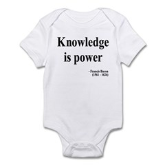 Francis Bacon Text 1 Infant Bodysuit