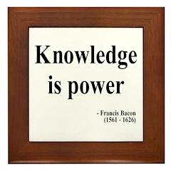 Francis Bacon Text 1 Framed Tile