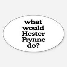 Hester Prynne Oval Decal