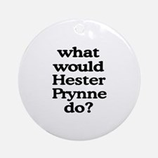 Hester Prynne Ornament (Round)