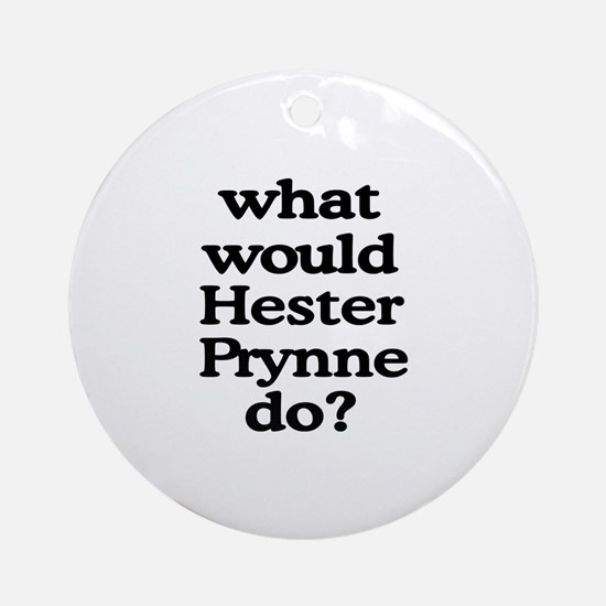 Hester Prynne Ornament (Round)