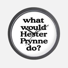 Hester Prynne Wall Clock