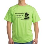 Francis Bacon Quote 2 Green T-Shirt