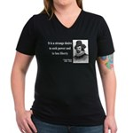Francis Bacon Quote 2 Women's V-Neck Dark T-Shirt