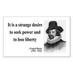 Francis Bacon Quote 2 Rectangle Sticker