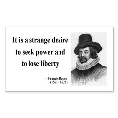 Francis Bacon Quote 2 Rectangle Decal