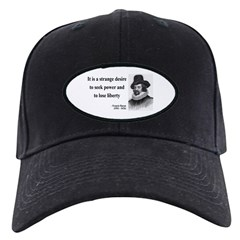 Francis Bacon Quote 2 Baseball Hat
