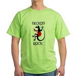 Geckos Rock Green T-Shirt