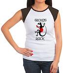 Geckos Rock Women's Cap Sleeve T-Shirt