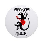 Geckos Rock Ornament (Round)