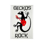 Geckos Rock Rectangle Magnet