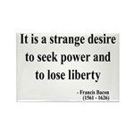 Francis Bacon Text 2 Rectangle Magnet (100 pack)