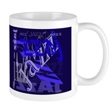 Jazz Blue on Blue Dark Mug