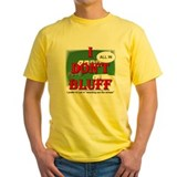 Texas holdem Mens Yellow T-shirts