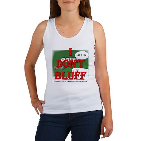 Poker Bluffer Women's Tank Top