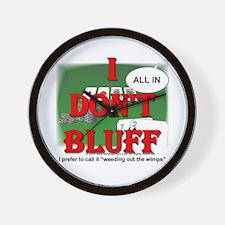 Poker Bluffer Wall Clock