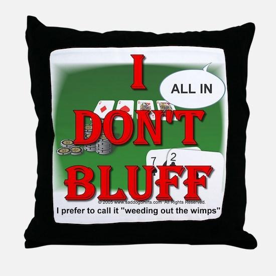 Poker Bluffer Throw Pillow