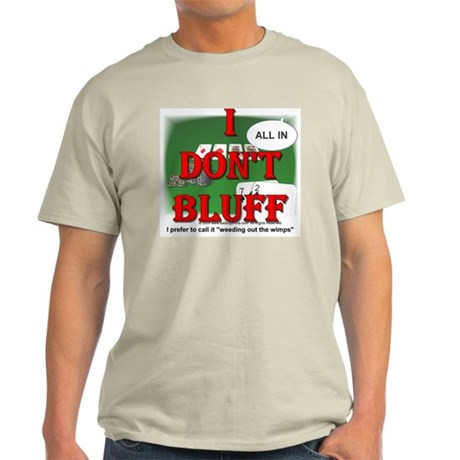 Poker Bluffer Ash Grey T-Shirt
