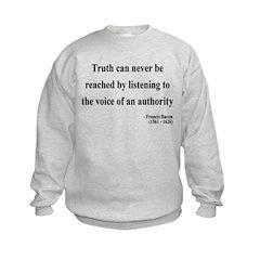 Francis Bacon Text 3 Sweatshirt