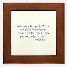 Zen Master Framed Tile