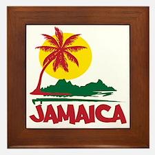 Jamaica Sunset Framed Tile