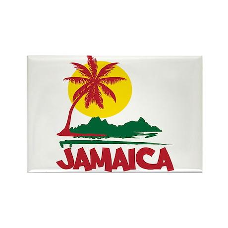 Jamaica Sunset Rectangle Magnet (10 pack)