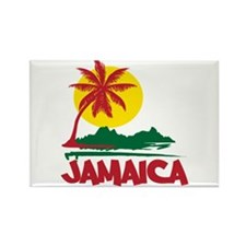Jamaica Sunset Rectangle Magnet