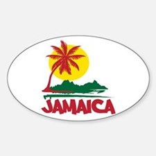 Jamaica Sunset Oval Decal