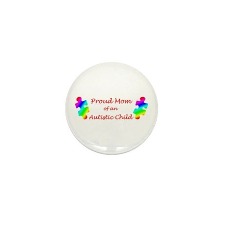 Autism Mom Mini Button