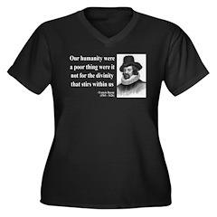 Francis Bacon Quote 4 Women's Plus Size V-Neck Dar