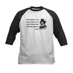 Francis Bacon Quote 4 Kids Baseball Jersey