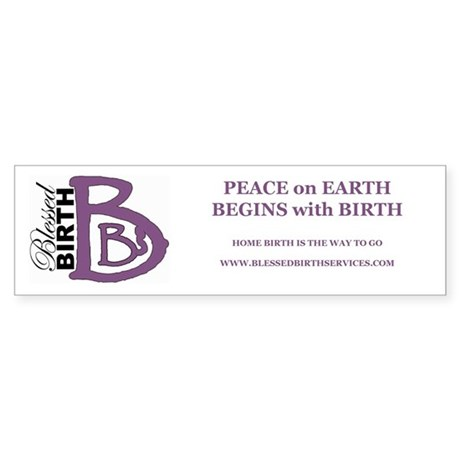 Peace on Earth Bumper Sticker