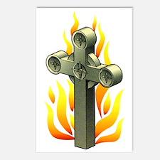 Fiery Cross Tattoo Art Postcards (Package of 8)
