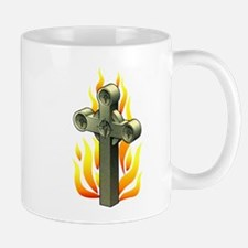 Fiery Cross Tattoo Art Mug