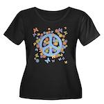 Peace & Butterflies Women's Plus Size Scoop Neck D