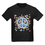 Peace & Butterflies Kids Dark T-Shirt