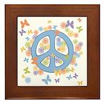Peace & Butterflies Framed Tile