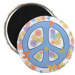 """Peace & Butterflies 2.25"""" Magnet (10 pack)"""