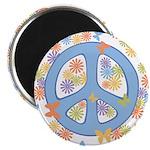 """Peace & Butterflies 2.25"""" Magnet (100 pack)"""