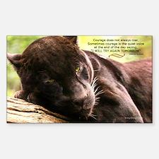 Jaguar Photograph Rectangle Decal