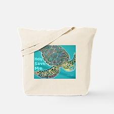 Save Turtle Tote Bag