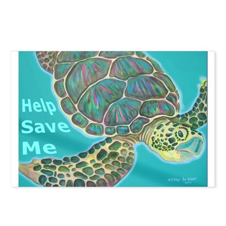 Save Turtle Postcards (Package of 8)