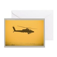 AH-64 Apache Attack Helicopte Greeting Card