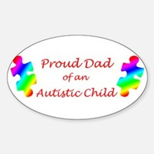 Autism Dad Oval Decal