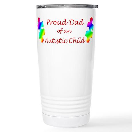 Autism Dad Stainless Steel Travel Mug